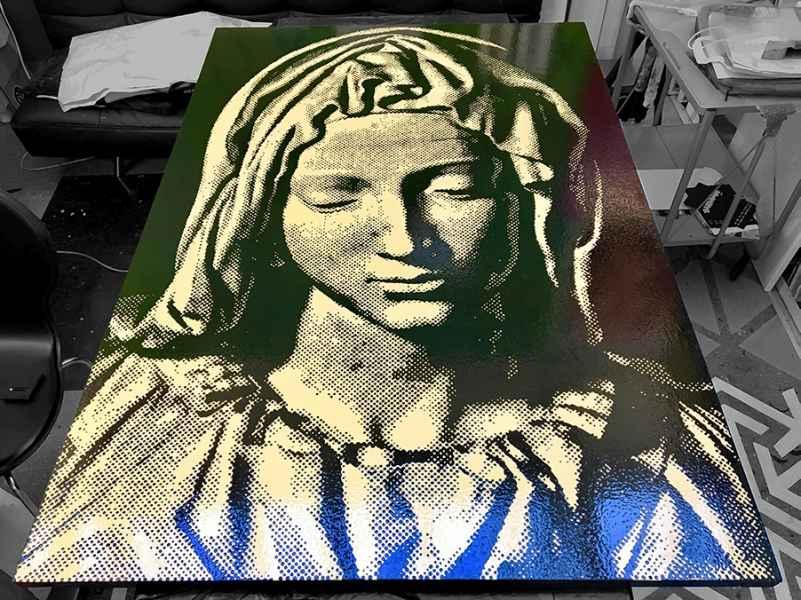 La Pietà 2020 / Kunstharz auf Holz